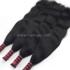 Ham Doğal Saç 73 CM - Boyasız Koyu Kestane Her İşleme Garantili Saçlar