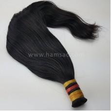 Doğal Ham Saç 40-43 CM - Koyu Kestane İşlem Görmemiş Saç