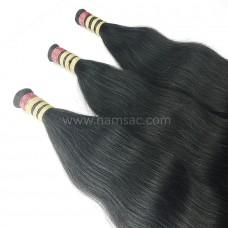 Doğal Ham Saç 60-63CM - Koyu Kestane İşlem Görmemiş Saç