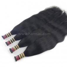 Doğal Ham Saç 65 CM - Koyu Kestane Garantili Gerçek Saçlar