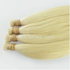 Platin Ham Saç - 40 CM Garantili Gerçek Platin Sarısı Toptan Ham Saçlar