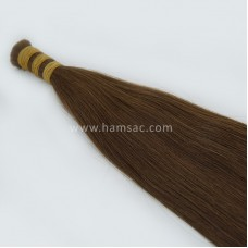 HAM SAÇ - Renk #4 - 65CM  Gerçek Saçlar
