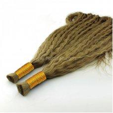 63 CM Ara ton  Permalı Saç  Garantili Gerçek Saç - 100GR