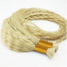 Permalı Ham Saç - 75-80CM Kıvırcık Ham Saç Sarı  Boyasız Gerçek Garantili Saçlar