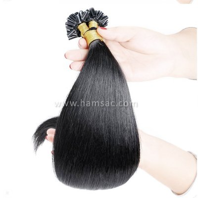 75 cm Doğal Mikro Kaynak Saç