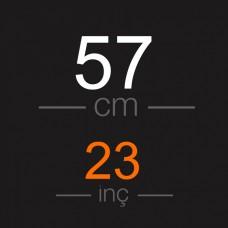 57 CM Ara ton  Permalı Saç  Garantili Gerçek Saç - 100GR